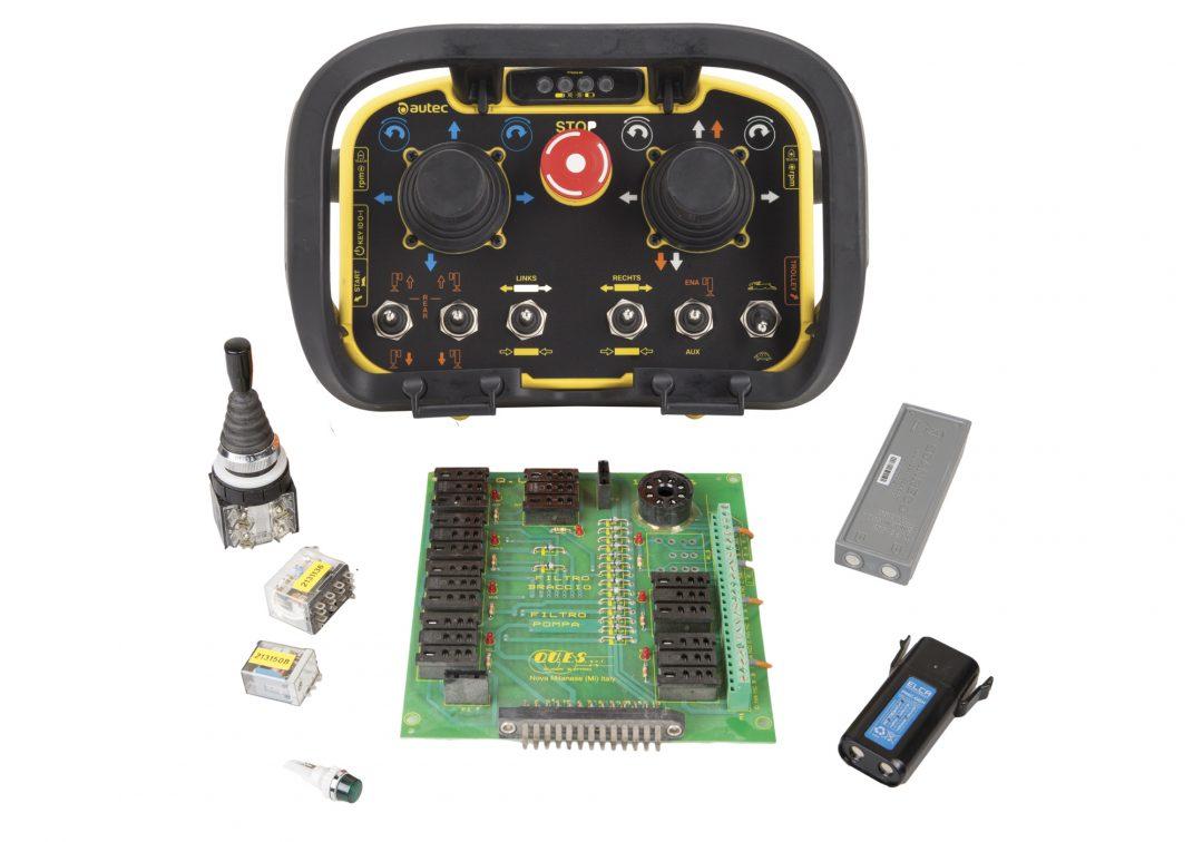 radiocomandi e parti elettriche pompe