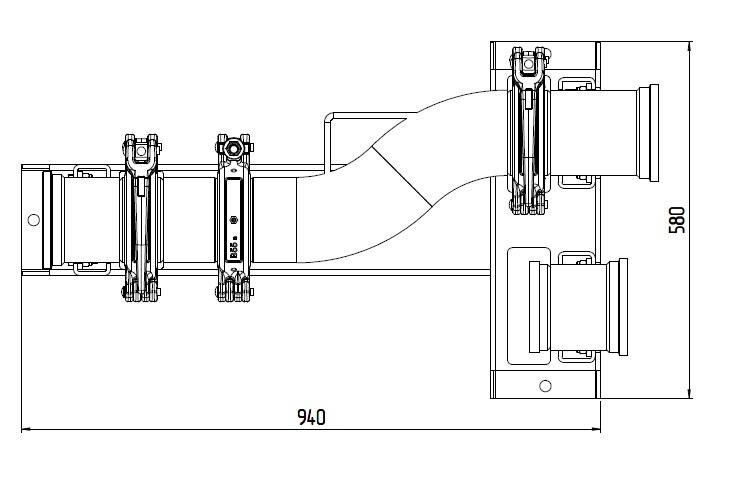deviatore manuale DN125
