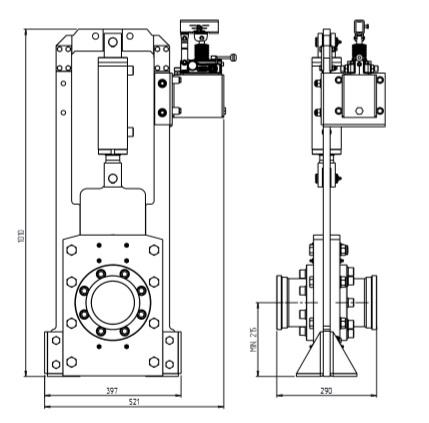 valvola ghigliottina idraulica