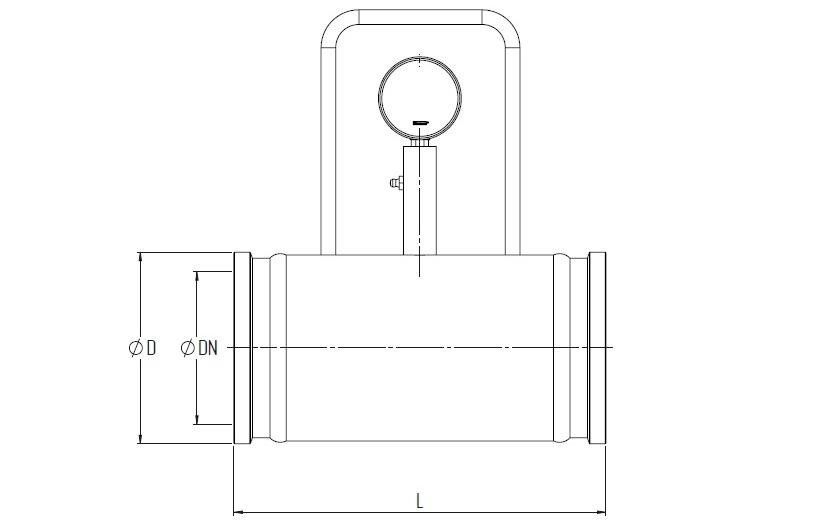 tubo con manometro